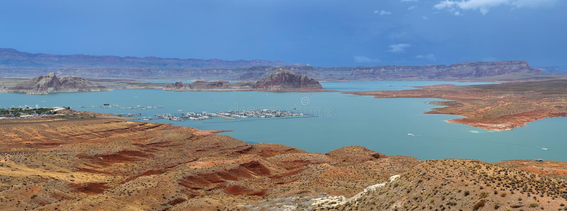 湖鲍威尔在亚利桑那在美国 免版税库存照片