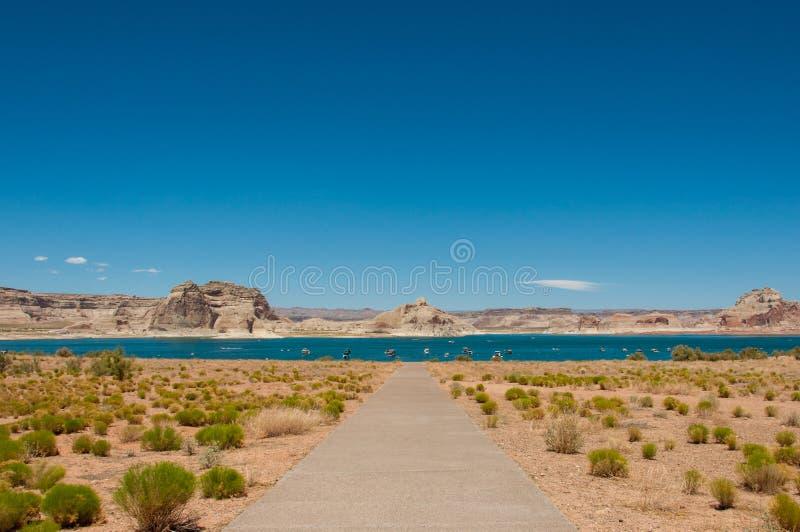 湖鲍威尔在亚利桑那,美国 免版税库存照片