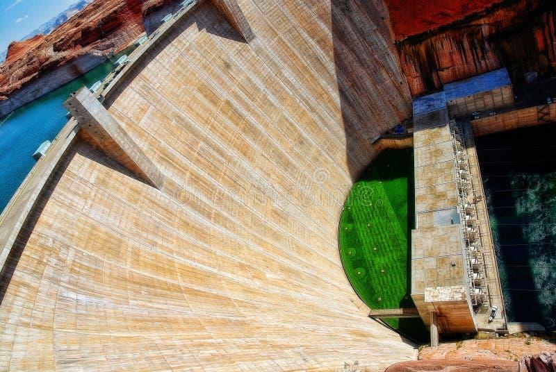 湖鲍威尔水坝美国 免版税库存照片