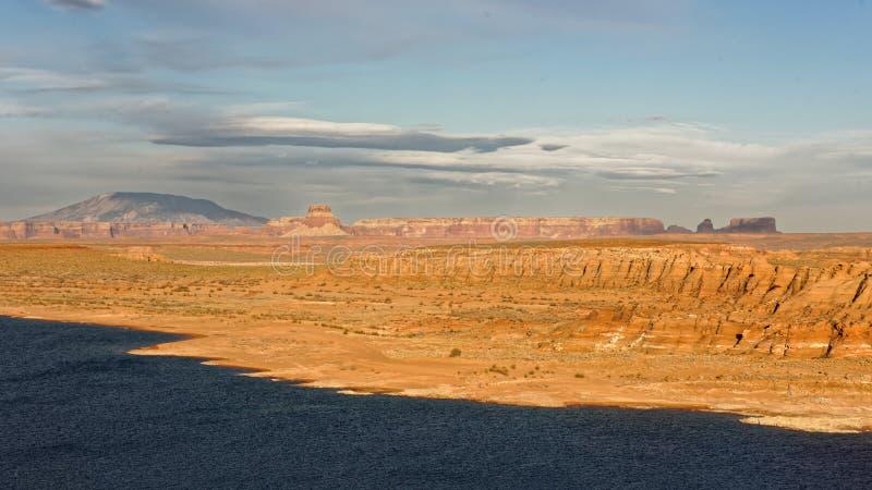 湖鲍威尔,亚利桑那风景  库存图片