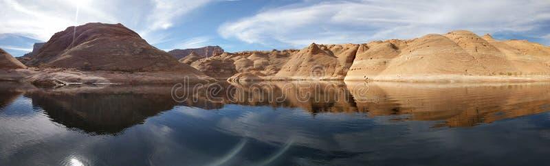湖鲍威尔Labrynth峡谷 免版税图库摄影