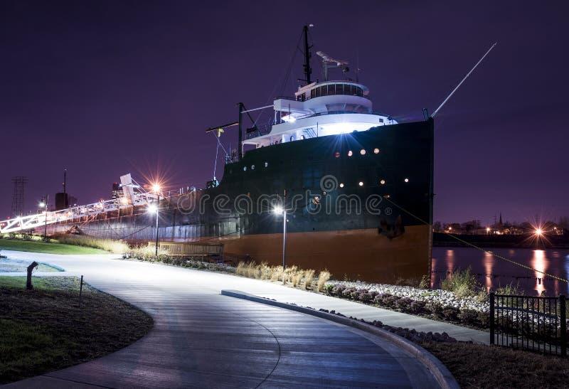 湖货轮 库存图片