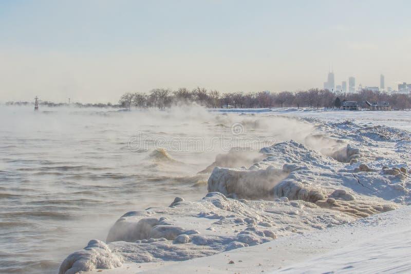 冻湖 库存图片