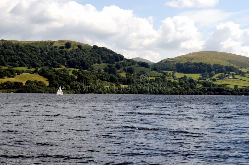 湖Bala在Snowdonia,北部威尔士 库存图片