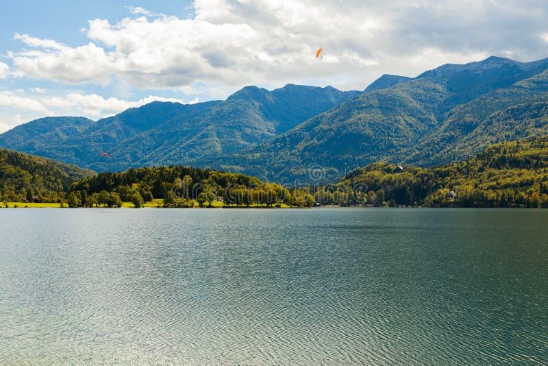 湖Bohinj (斯洛文尼亚) 免版税库存照片