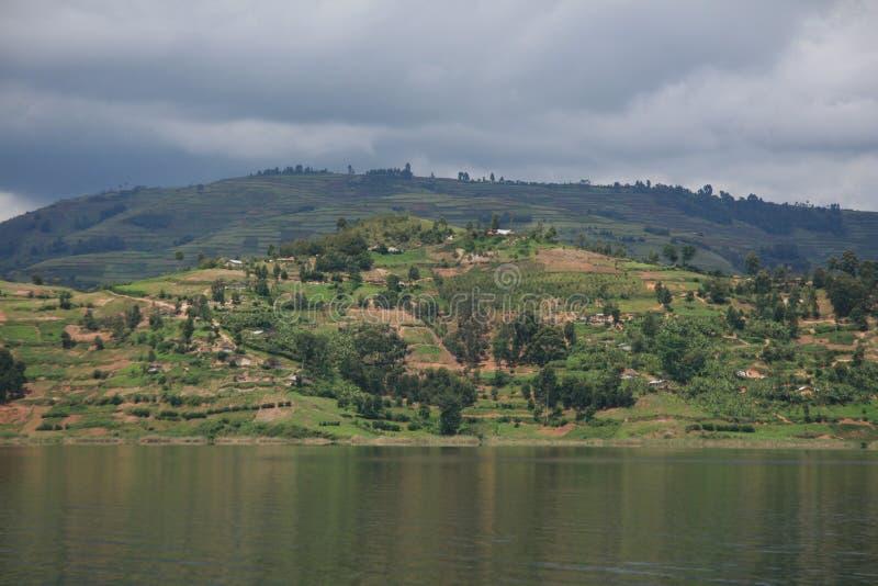 湖Bunyoni -乌干达,非洲 库存照片