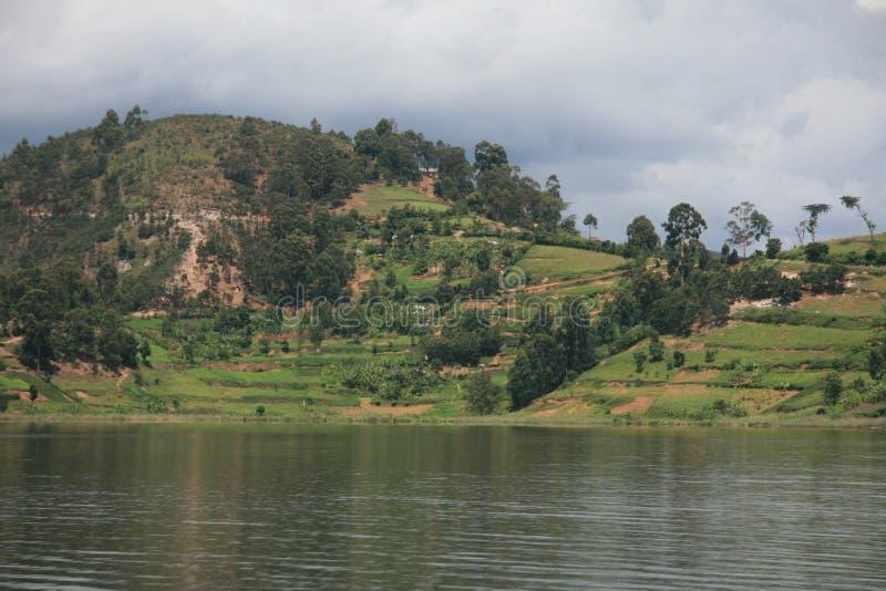 湖Bunyoni -乌干达,非洲 免版税库存图片