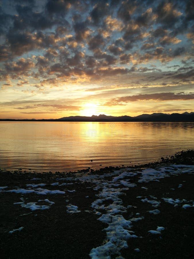 湖Chiemsee巴伐利亚 库存照片