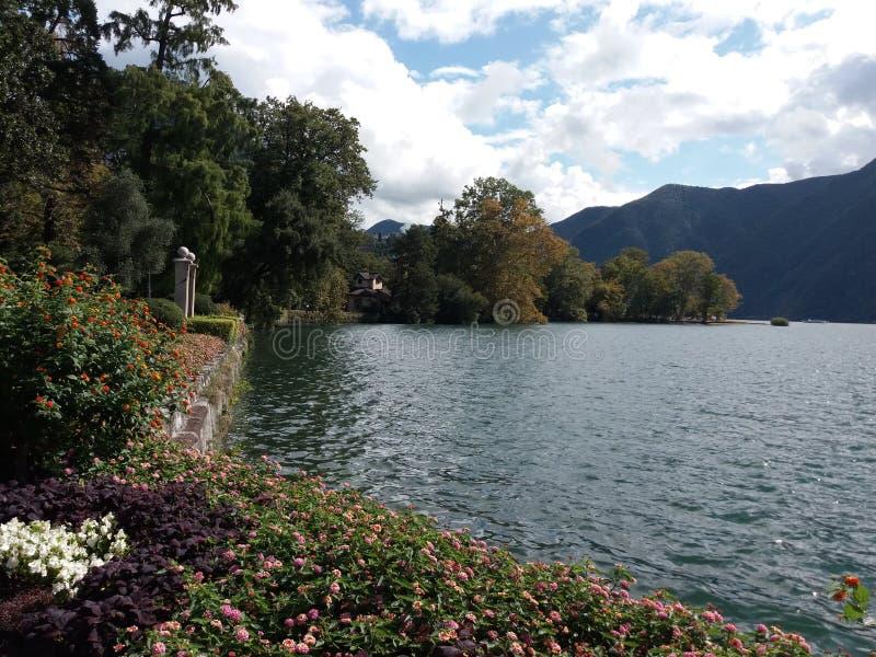 湖Como 免版税库存照片
