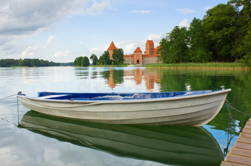湖Galve,立陶宛 库存照片