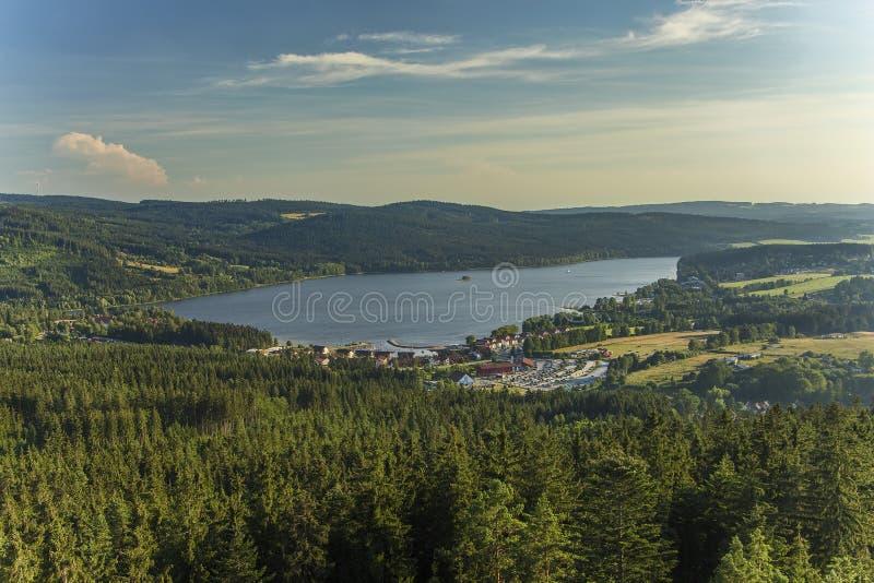 湖Lipno在南波希米亚,捷克,欧洲 库存照片