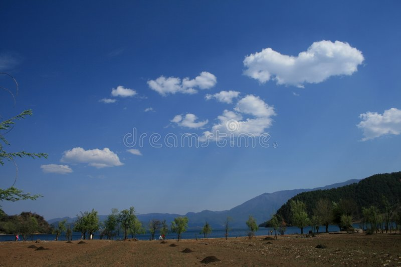 湖lugu 库存图片
