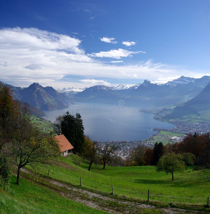 湖luzern瑞士 免版税库存图片