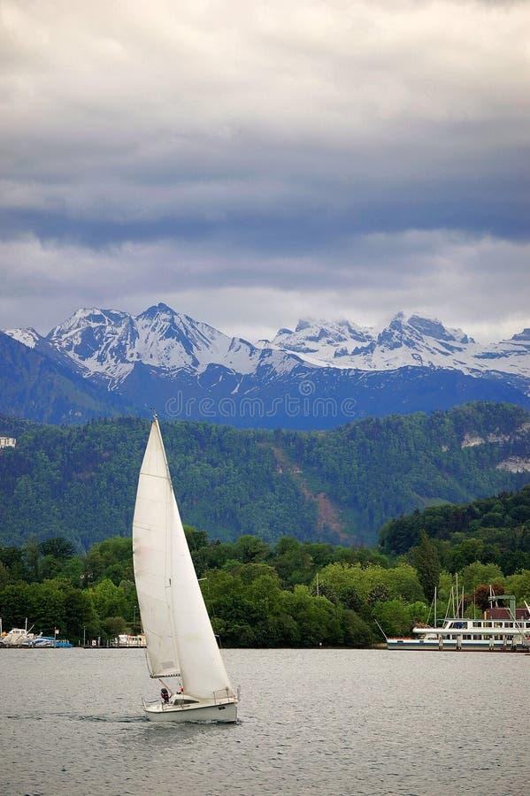 湖luzern瑞士 免版税库存照片