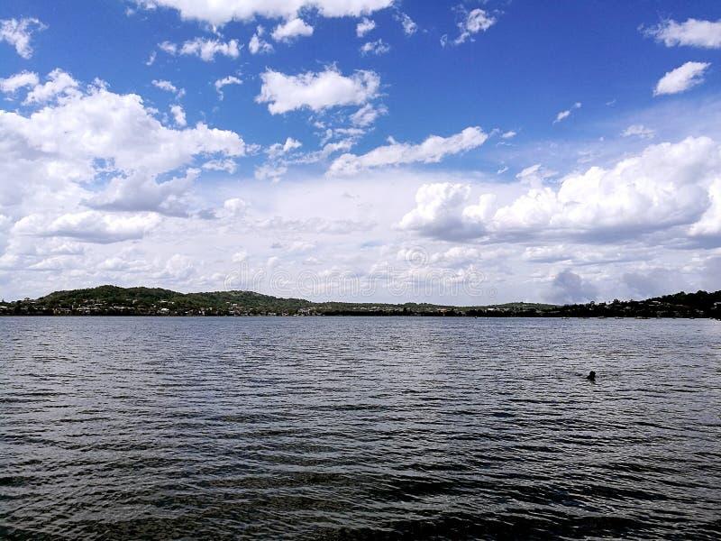 湖Macquarie视图 免版税库存照片