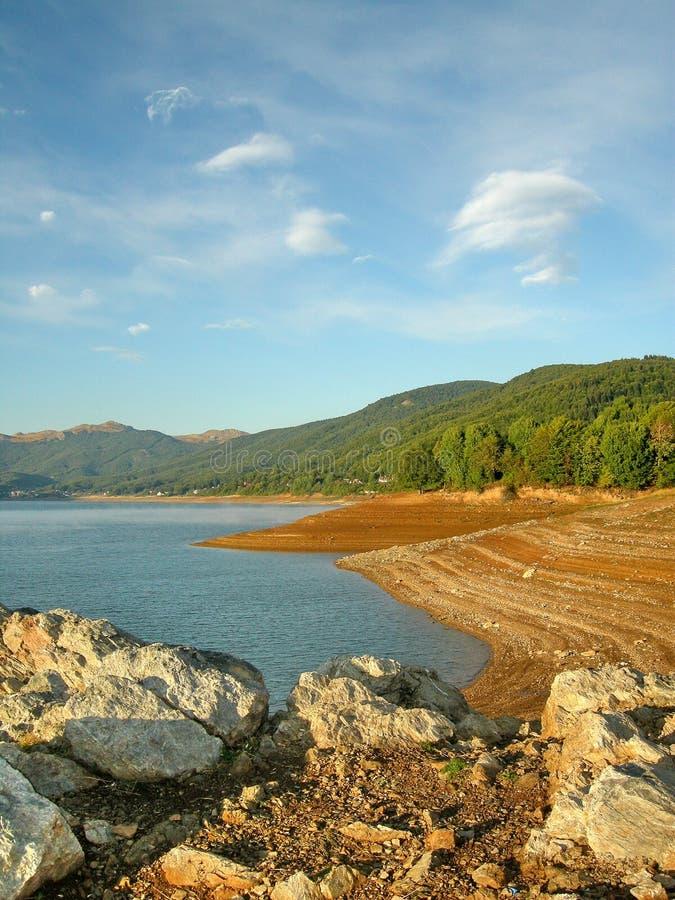 湖mavrovo 图库摄影
