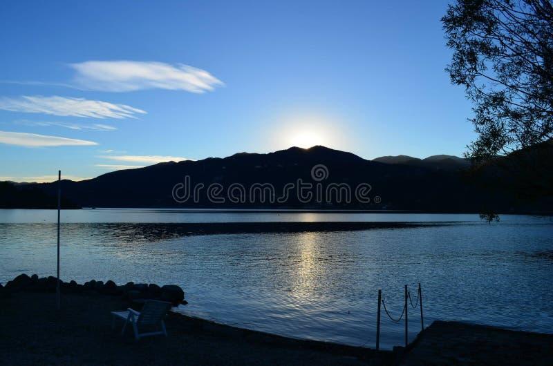 湖Orta,意大利 库存照片