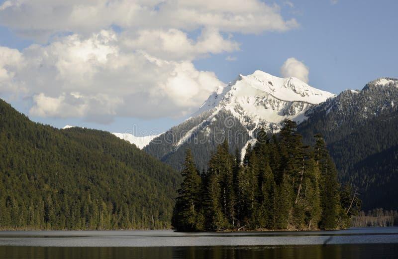 湖packwood状态华盛顿 库存照片
