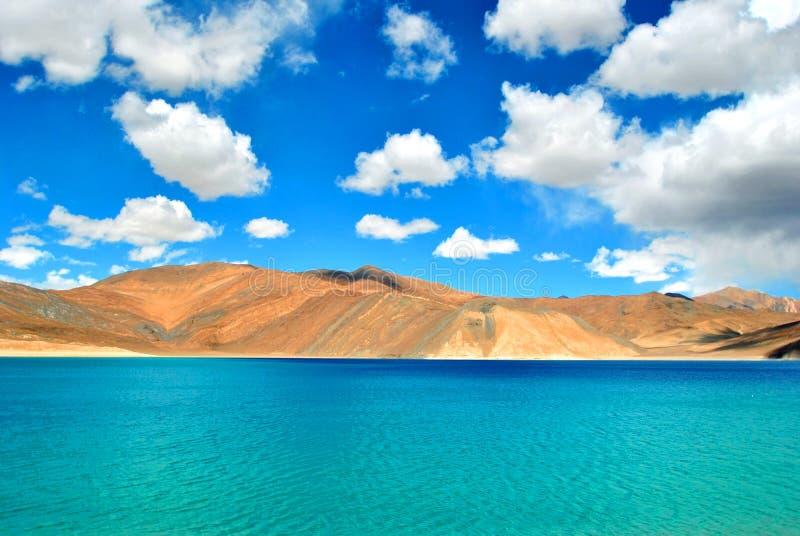湖pangong 库存图片
