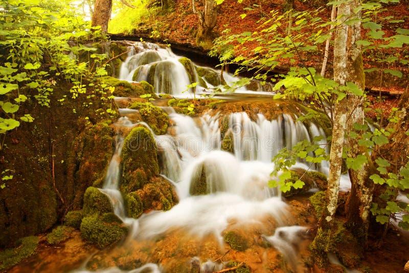湖plitvice瀑布 免版税库存照片