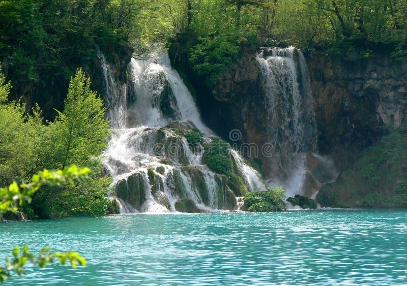 湖plitvice 免版税图库摄影