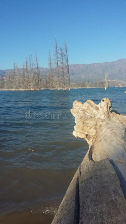 湖Potrerillos 库存图片