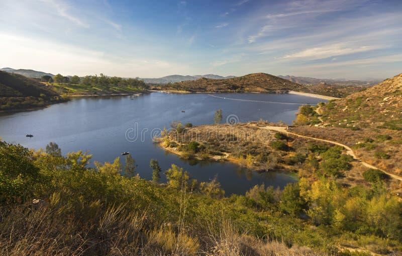湖Poway风景风景北部的圣地亚哥县 库存图片