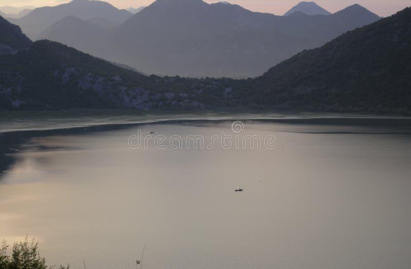 湖Shkoder 免版税库存图片
