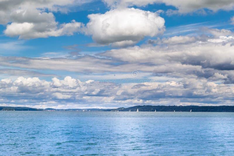 湖Starnberger看见,巴伐利亚 库存图片