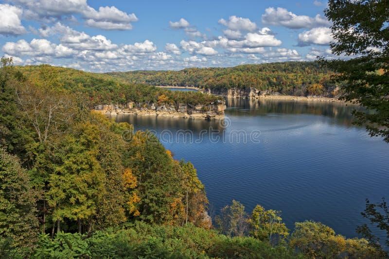 湖Summersville俯视 免版税库存图片