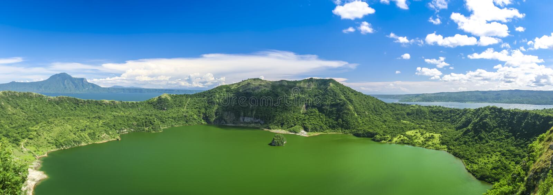 湖taal火山tagaytay菲律宾 免版税库存图片