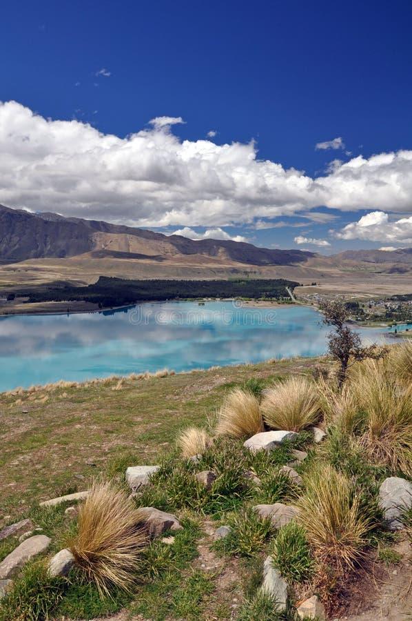 湖Tepako步行 库存图片