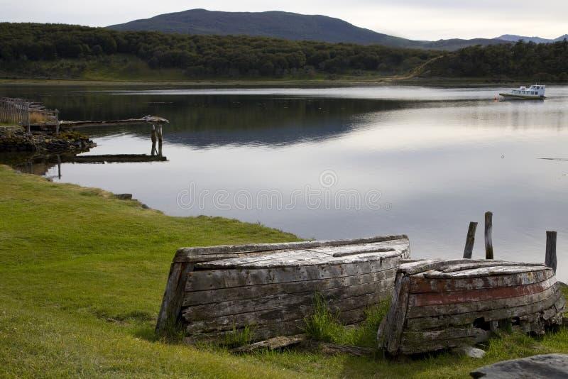 湖ushuaia 库存照片