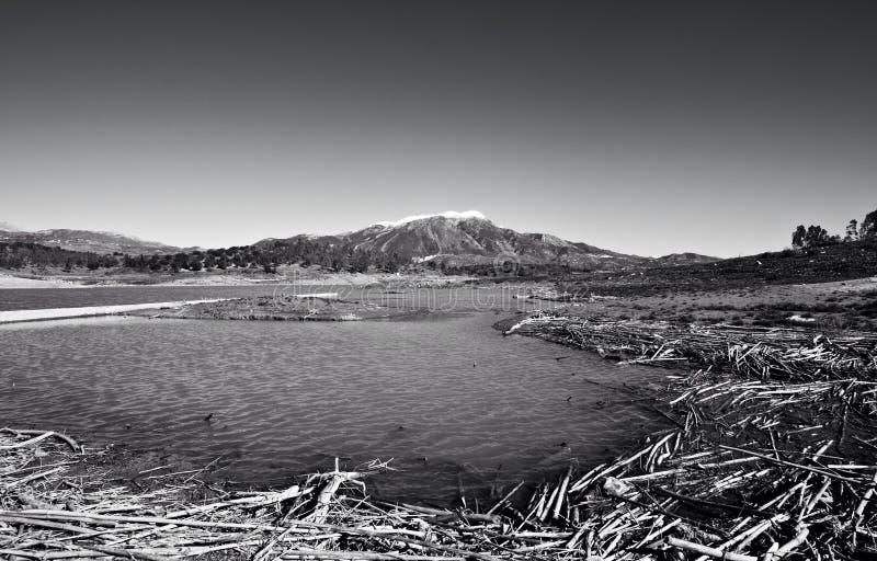 湖Vinuela 库存照片
