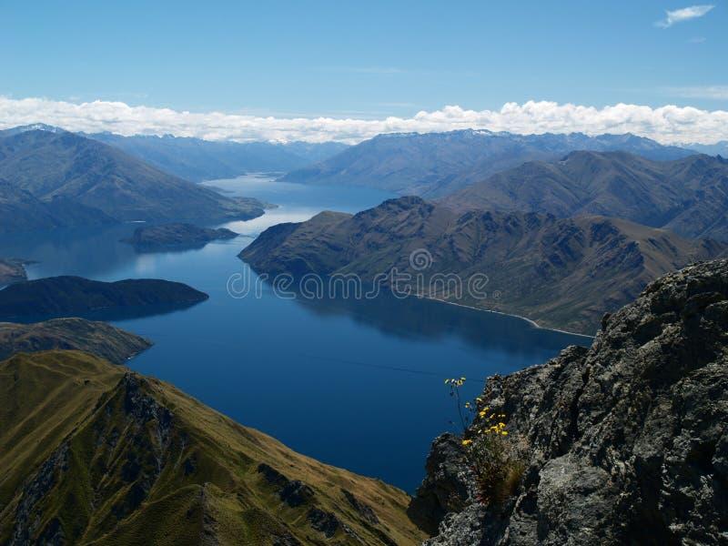 湖wanaka 库存照片