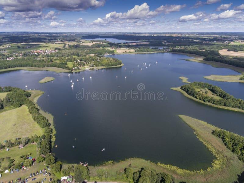 湖Wigry国家公园 Suwalszczyzna,波兰 大海和 免版税库存图片