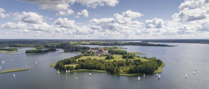 湖Wigry国家公园 Suwalszczyzna,波兰 大海和 库存图片