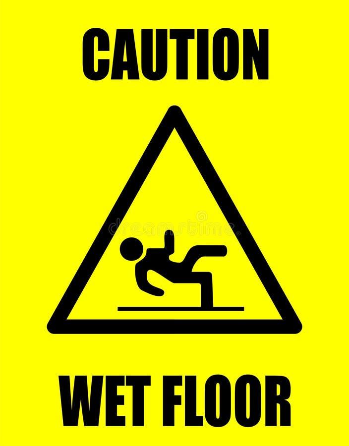 湿小心的楼层 向量例证