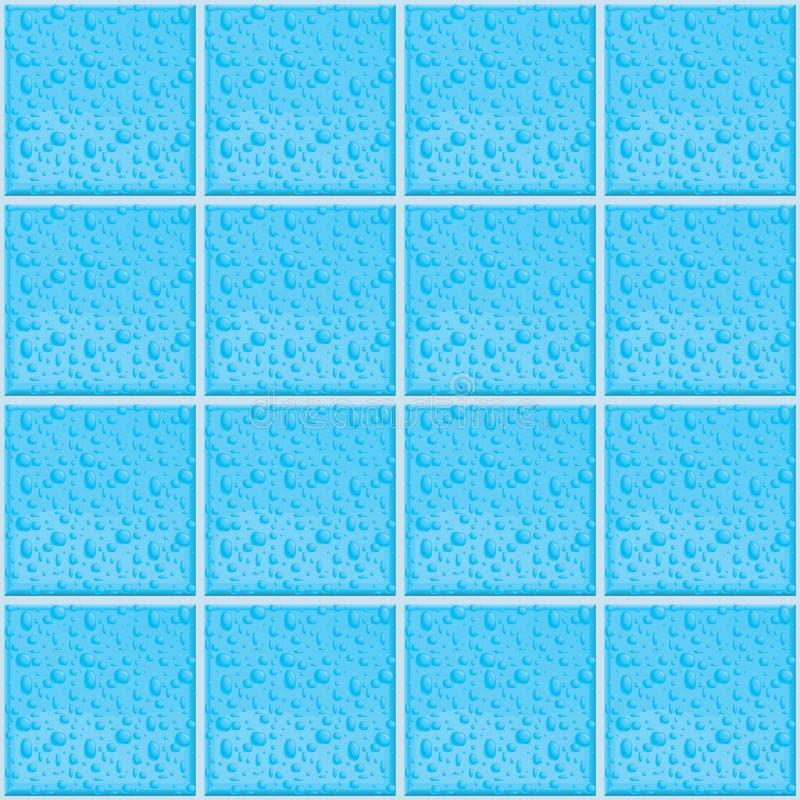 湿模式的瓦片 向量例证
