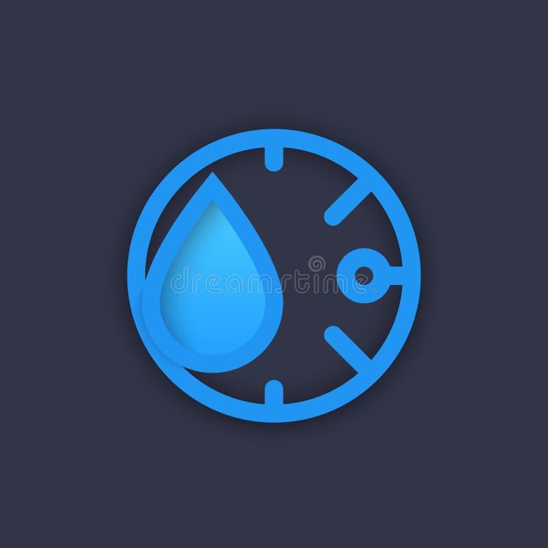 湿气象,传染媒介图表 皇族释放例证