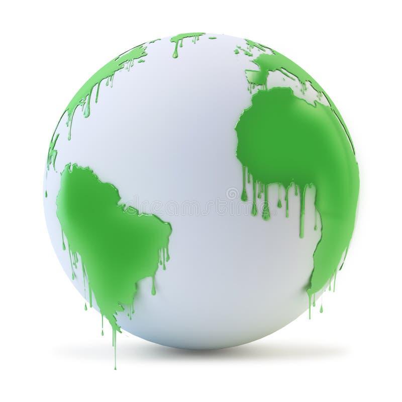 湿油漆地球 库存图片