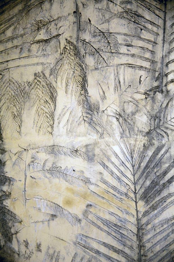 湿混凝土墙 免版税库存照片