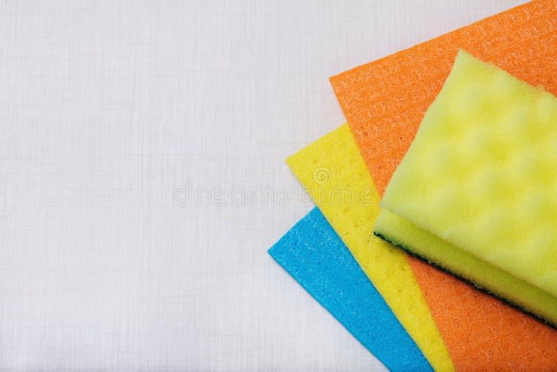 湿清洁的餐巾 库存图片