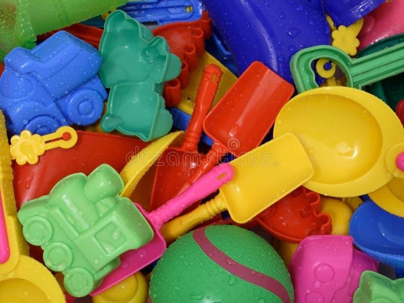 湿的玩具 库存照片