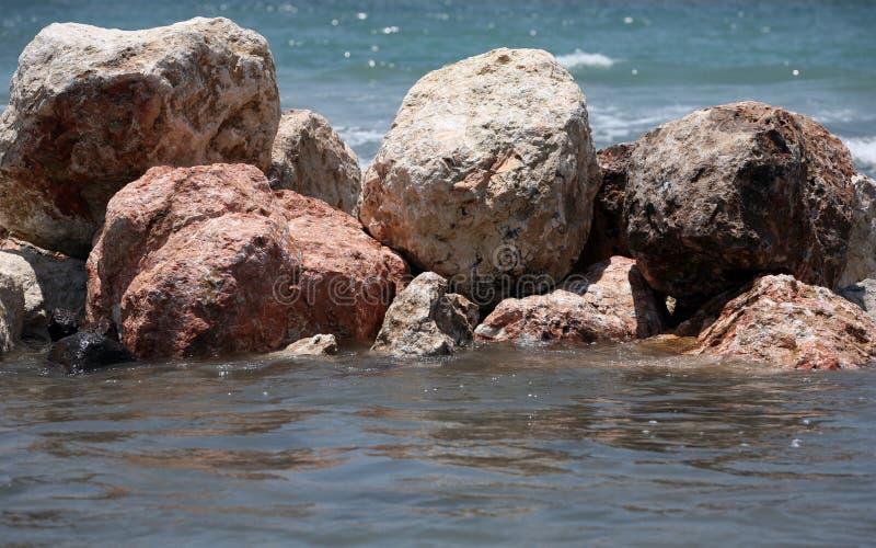 湿的石头 图库摄影