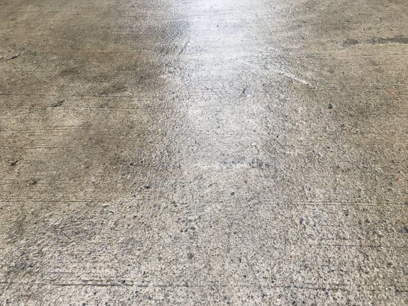 湿水泥地板 库存图片