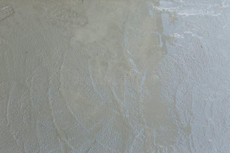 湿水泥纹理在楼房建筑站点 免版税图库摄影