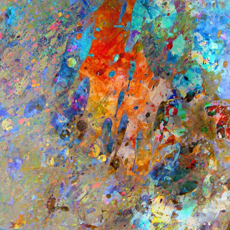 溅泼的颜色摘要 图库摄影