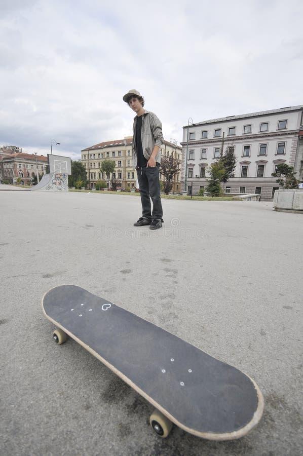 溜冰板者男孩 库存图片