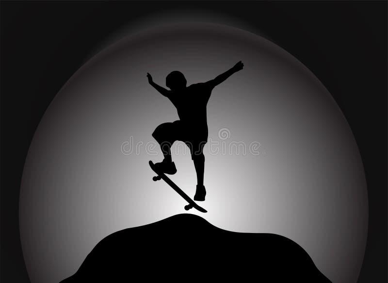 溜冰板者 皇族释放例证